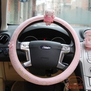 New Hello Kitty Auto Car Steering Wheel Cover