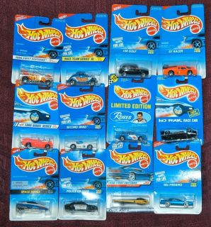 Mixed Lot of 12 Hot Wheels Cars from The 1990s All New in Package
