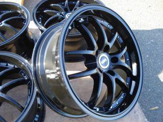 Black Wheels 5x114 3 Honda Acura Toyota Mazda Hyundai Ford Kia Rims