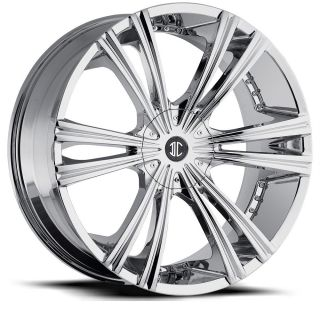 22 inch 2CRAVE NO12 Chrome Wheels Rims 6x5 5 GX460 LX450 Montero