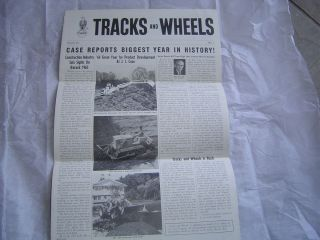 1964 Case Tracks Wheels Newspaper Brochure 430 Tractor Loader Lawn