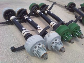Heavy Duty Axles 12K Semi Truck Trailer Drum Brake 4 75