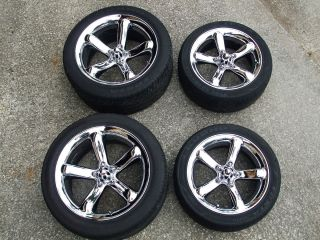 Chrome Plymouth Prowler Wheels Rims with Tires 17x7 5 and 20x10