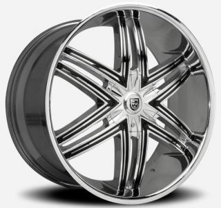Lexani Advocate Chrome Wheel Rim 5x150 Tundra Sequoia LX470