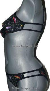 NWT MANUEL CANOVAS bikini swimsuit designer T1 4/6 US luxe high end