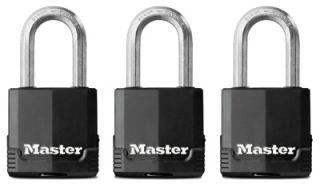 Master Lock 3pk 1 3 4 Black All Weather Padlocks