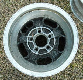 Aluminum Slotted Mag Wheels 15x10 15x8 5 GM 4 3 4 Set of 4