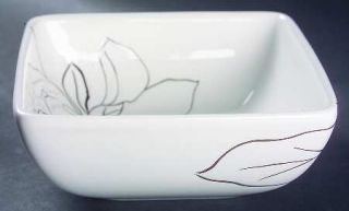 Laurie Gates Anna White Soup/Cereal Bowl, Fine China Dinnerware   All White,Flor