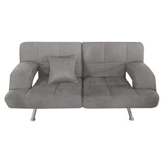 Grey Microsuede Sofa Bed