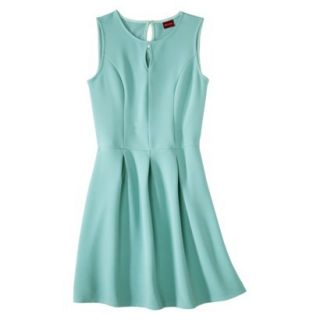 Merona Womens Textured Sleeveless Keyhole Neck Dress   Sunglow Green   XS