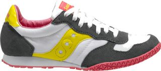 Womens Saucony Bullet   Grey/White/Yellow Originals