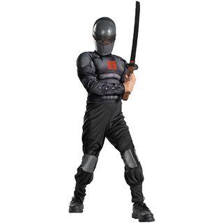 G.I. Joe Retaliation Snake Eyes Light up Deluxe Muscle Child Costume, Black,