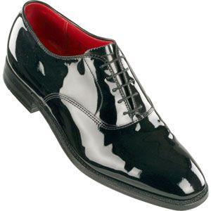 Alden Mens Plain Toe Bal Patent Leather Plaza Last Black Patent Shoes   9373