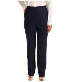 Pendleton Petite Worsted Wool True Fit Trouser Womens Dress Pants (Blue)