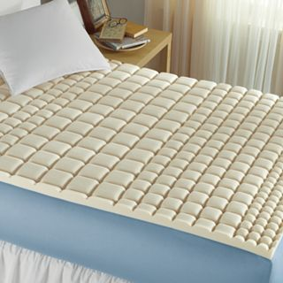 ISOTONIC Structure Memory Foam Mattress Topper, Natural Nb