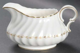 Royal Doulton Adrian Creamer, Fine China Dinnerware   Inner Gold Laurel,Embossed