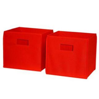 ... Storage Bin Unit RiverRidge Kids 2 Piece Storage Bins Red ...