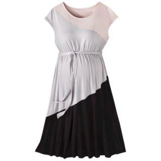 Liz Lange for Target Maternity Short Sleeve Colorblock Dress   Pink/Gray/Black S