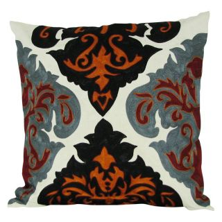 Design Accents Arabic Damask Pillow   Rusty Multicolor   NSG36355