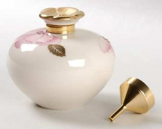 Lenox China Royal Blossom Collection Perfume Bottle W/Stopper & Metal Funnel, Fi