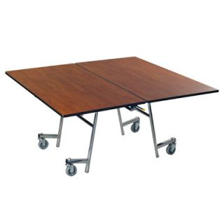 AmTab Manufacturing Corporation Vinyl Edge Particle Board Square Mobile Table