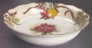 222 Fifth (PTS) Yuletide Celebration 12 Pasta Serving Bowl, Fine China Dinnerwa