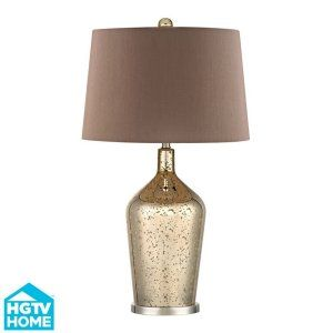 Dimond Lighting DMD HGTV355 Pershore Gold Mercury Glass Bottle Lamp with Chocola