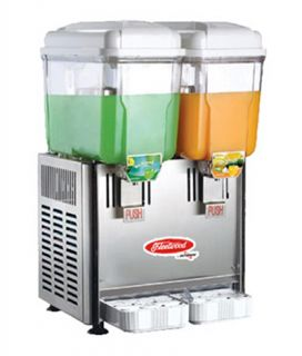 Fleetwood Twin Cold Beverage Dispenser w/ (2) 3 Gal Capacity, Stainless Valves