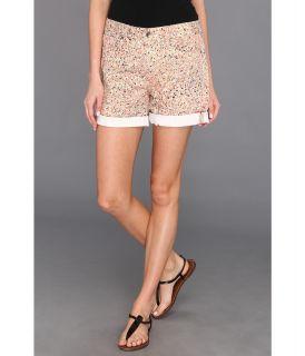 Calvin Klein Jeans Mini Splatter Print Weekend Short Womens Shorts (Orange)