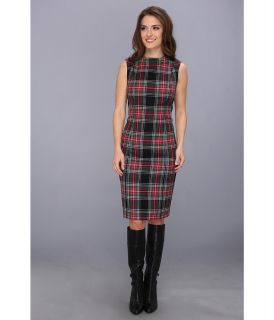 Pendleton Petite Worsted Wool Flannel Simone Sheath Dress Womens Dress (Multi)