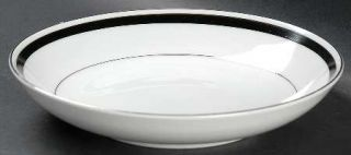 Montgomery Ward Courier Coupe Soup Bowl, Fine China Dinnerware   Black Band,Plat