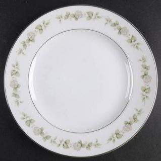 Franconia   Krautheim Cindy Salad Plate, Fine China Dinnerware   White Flowers,G