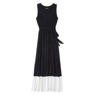Merona Womens Knit Colorblock Maxi Dress   Black/Sour Cream   M