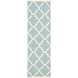 Safavieh Dhurries Light Blue/Ivory Rug DHU633C Rug Size: Round 6