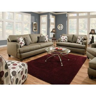 Furniture Of America Dandelien Transitional 2 piece Fabric Sofa And Loveseat Set