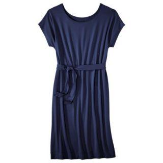 Merona Womens Knit Belted Dress   Xavier Navy   S