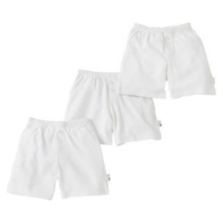 Burts Bees Baby Infant Toddler Boys 3 Pack Boxer Shorts   Dove White 24 M