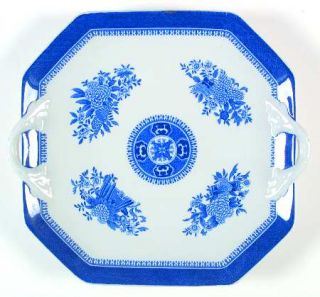Spode Fitzhugh Blue Square Handled Cake Plate Fine China Dinnerware Blue Band & Spode Fitzhugh Blue Square Handled Cake Plate Fine China Dinnerware ...