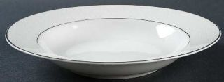 Majestic (Japan) Plymouth Large Rim Soup Bowl, Fine China Dinnerware   White Flo