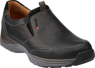 Mens Clarks Skyward Free   Black Leather Casual Shoes