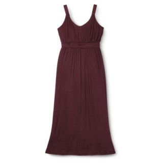 Merona Womens Plus Size Sleeveless V Neck Maxi Dress   Berry 1