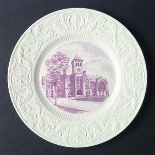 Wedgwood Duke University Mulberry Dinner Plate, Fine China Dinnerware   Mulberry