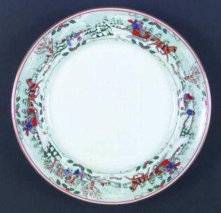 Royal Worcester Village Christmas Dinner Plate, Fine China Dinnerware   Porcelai