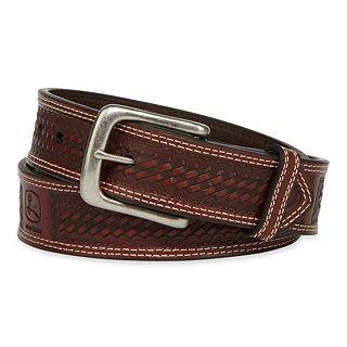 John Deere Embossed Belt, Tan, Mens