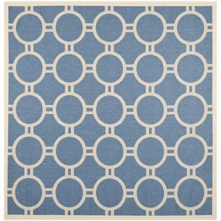 Safavieh Modern Indoor/outdoor Courtyard Blue/beige Rug (710 Square)