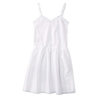 Girls Nylon Full Slip   White 14
