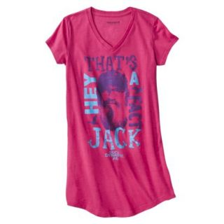 Duck Dynasty Juniors Dorm Tee   Pink Print XL