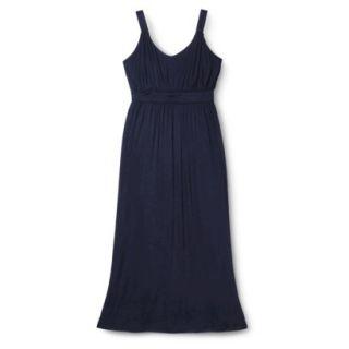 Merona Womens Plus Size Sleeveless V Neck Maxi Dress   Navy 4