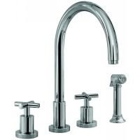 Graff G 4320 C4 SN Infinity Two Handle Kitchen Faucet with Side Spray