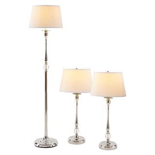 ... JCP Home Collection Home 3 Pc. Acrylic Floor And Table Lamp Set, Nickel  ...